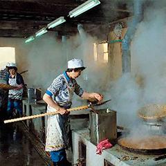 生たきしらす佃煮製造イメージ